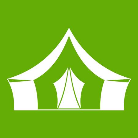 Tent, camping symbol icon green