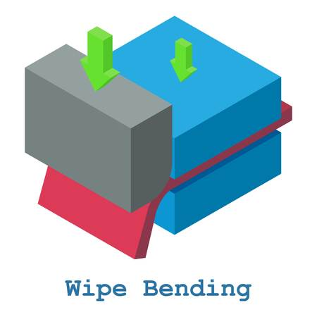 Wipe bending metalwork icon. Isometric illustration of wipe bending metalwork vector icon for web Иллюстрация