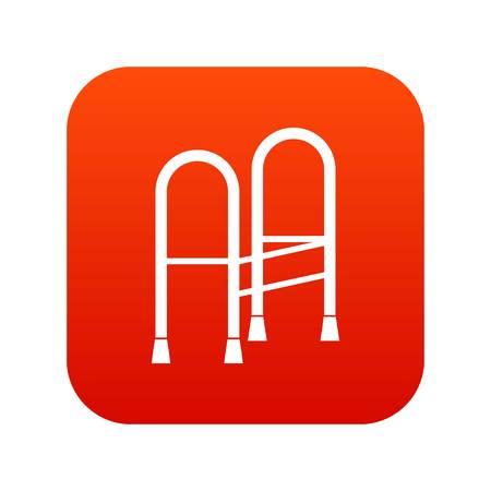 Walker icon digital red