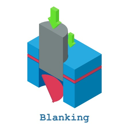 Blanking metalwork icon, isometric 3d style Illustration