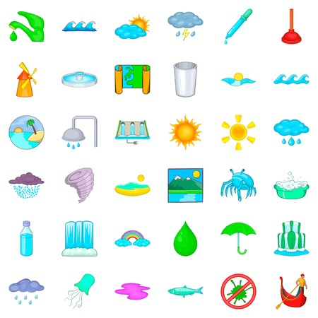 cartoon umbrella: Plumber icons set. Cartoon style of 36 plumber vector icons for web isolated on white background