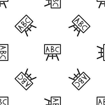 Bord met de letters ABC patroonherhaling naadloos in zwarte kleur voor elk ontwerp. Vector geometrische illustratie