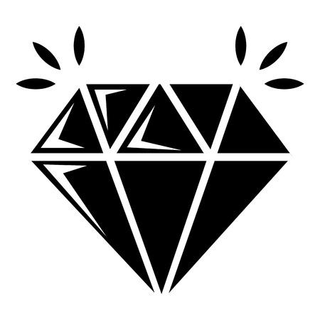 Icono de diamante de mina, estilo simple
