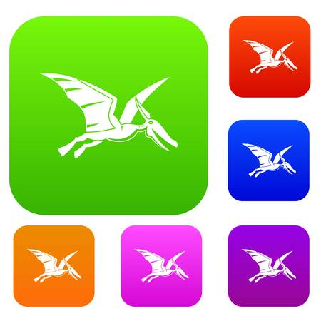 Pterosaurs dinosaur set color collection