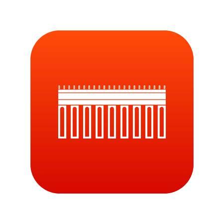 Bridge icon digital red