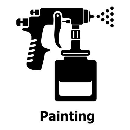 Icono de la pistola de pulverización. Ilustración simple del icono de vector de pistola de rociado para web