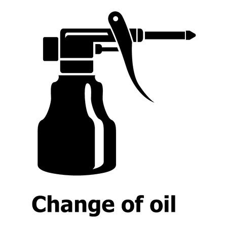 Verander het oliepictogram, eenvoudige zwarte stijl Stock Illustratie