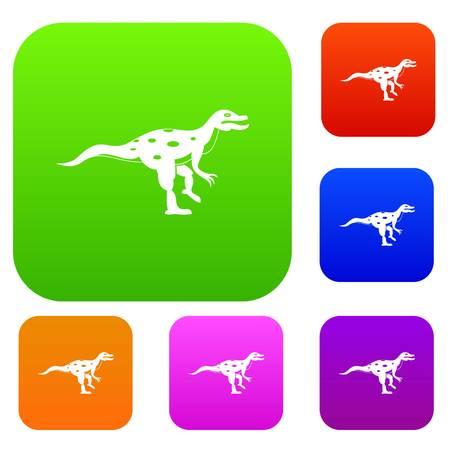 Ornithopod dinosaur set color collection