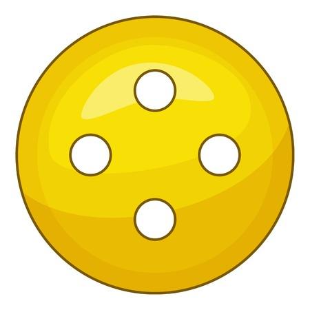 Yellow cloth button icon. Cartoon illustration of yellow cloth button vector icon for web Illustration