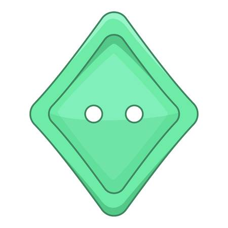 Rhombus cloth button icon. Cartoon illustration of rhombus cloth button vector icon for web