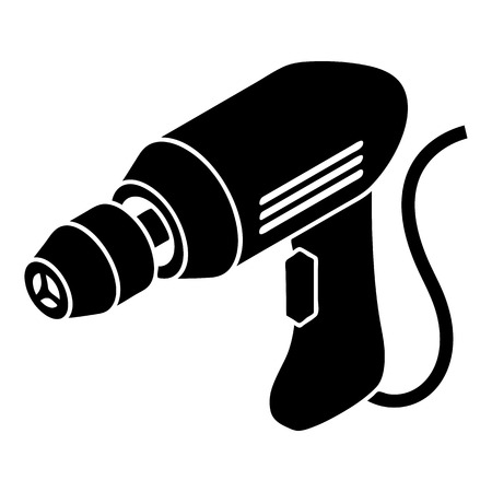 Corded drill icon. Simple illustration of corded drill vector icon for web design isolated on white background Illustration