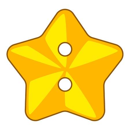 Star cloth button icon, cartoon style Illustration