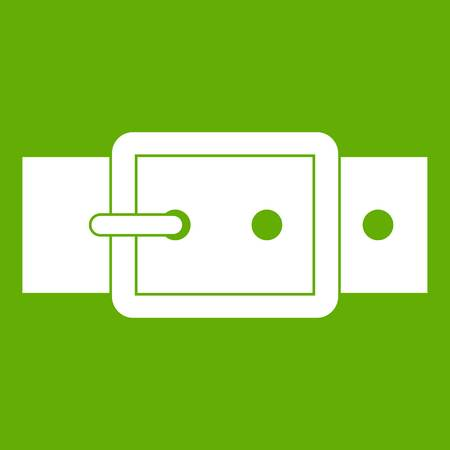 Black buckle belt icon green Illustration