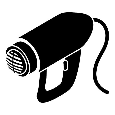 Heat power tool icon, simple style