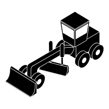 Grader icon, simple style Illustration
