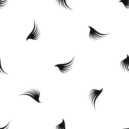 Wing pattern seamless black