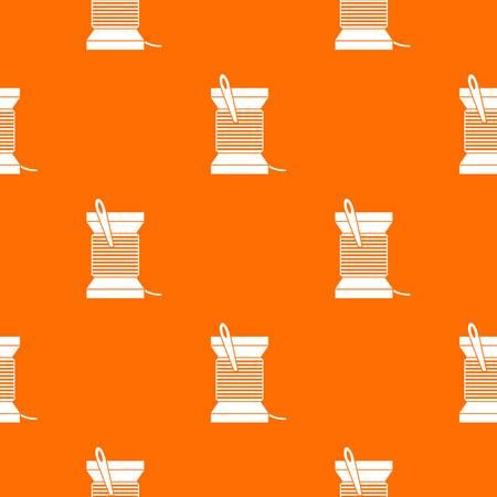 Needle and thread pattern seamless Illustration