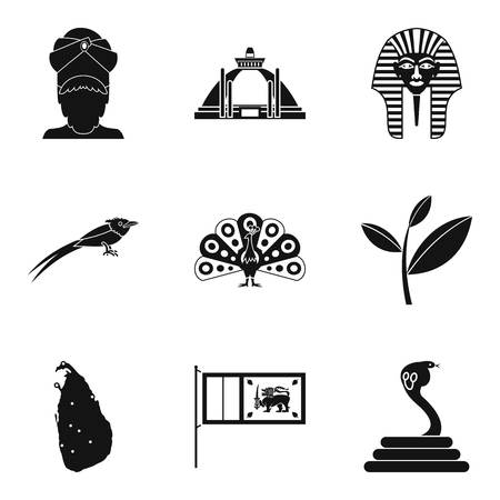 mentality: Mentality icons set, simple style Illustration
