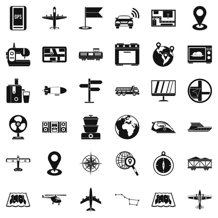 car isolated: Global icons set, simple style