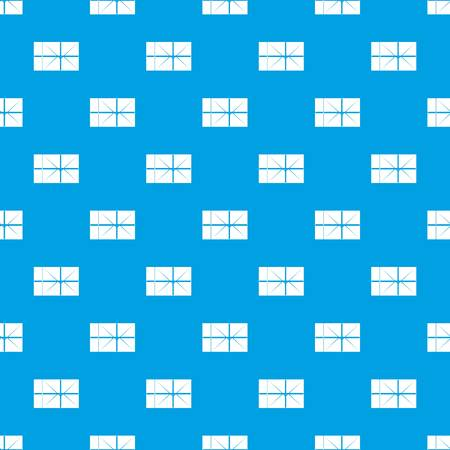delivery service: Postal parcel pattern seamless blue