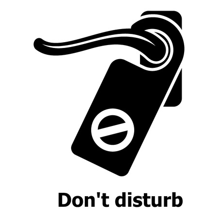 Do not disturb icon, simple black style