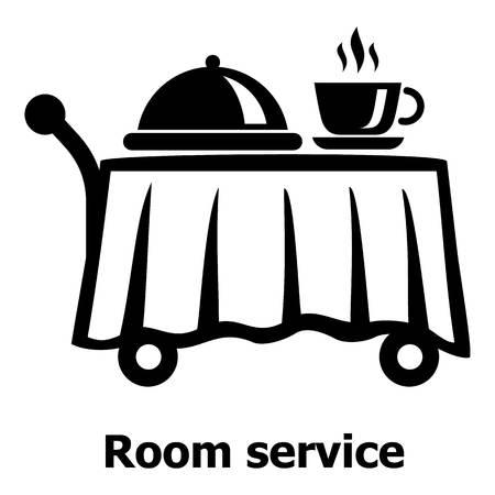 Zimmerserviceikone, einfache schwarze Art Vektorgrafik