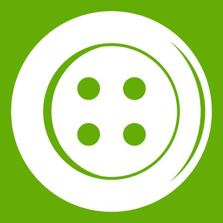 details: Sewing button icon green Illustration