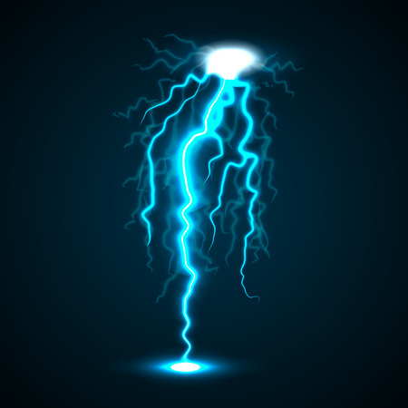 Lightning concept background, realistic style