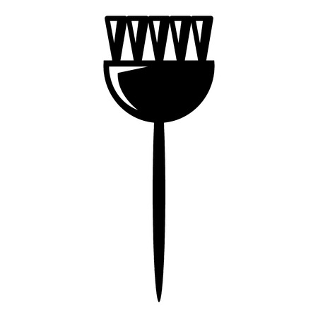 Cosmetic brush icon , simple style