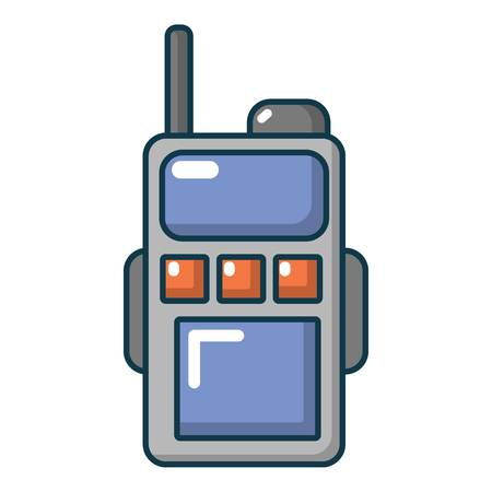 communication cartoon: Paintball portable radio icon. Cartoon illustration of paintball portable radio vector icon for web Illustration