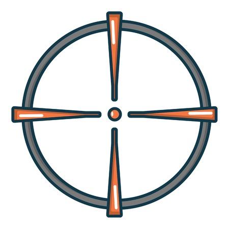 gunman: Paintball sight icon. Cartoon illustration of paintball sight vector icon for web
