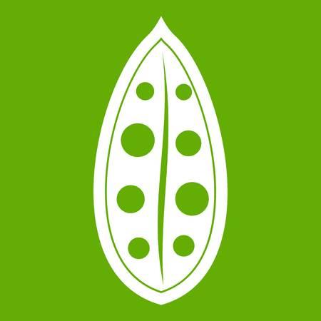 Cocoa pod icon green Illustration