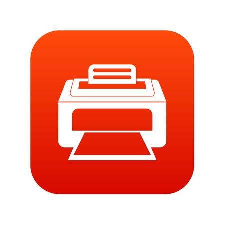 Modern laser printer icon digital red for any design isolated on white vector illustration