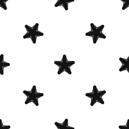 black metallic background: Star pattern repeat seamless in black color for any design. Vector geometric illustration