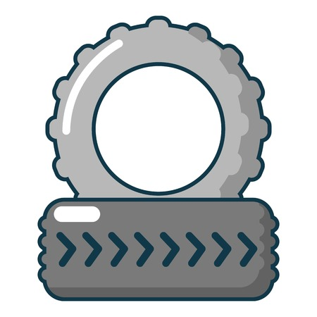 car isolated: Paintball field tire heap icon. Cartoon illustration of paintball field tire heap vector icon for web