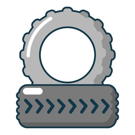 Paintball field tire heap icon. Cartoon illustration of paintball field tire heap vector icon for web