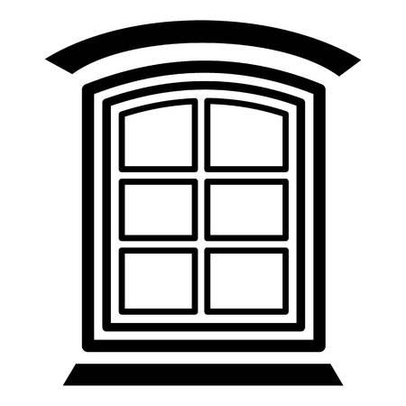 Retro window frame icon. Simple illustration of retro window frame vector icon for web