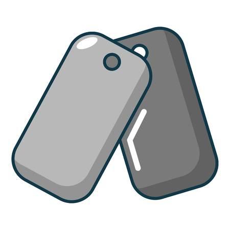 sports equipment: Paintball badge icon. Cartoon illustration of paintball badge vector icon for web Illustration