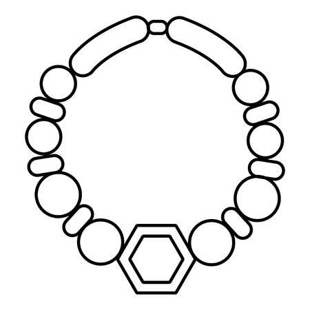 Parelketting pictogram. Overzichtsillustratie van parelhalsband vectorpictogram voor Webontwerp op witte achtergrond wordt geïsoleerd die