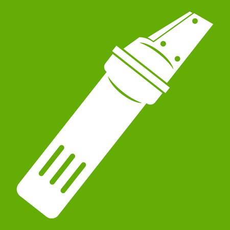glasscutter: Glass cutter icon green Vector illustration.