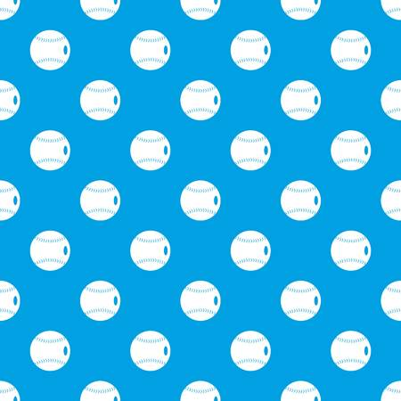 Baseball ball pattern repeat seamless in blue color for any design. Vector geometric illustration Ilustração
