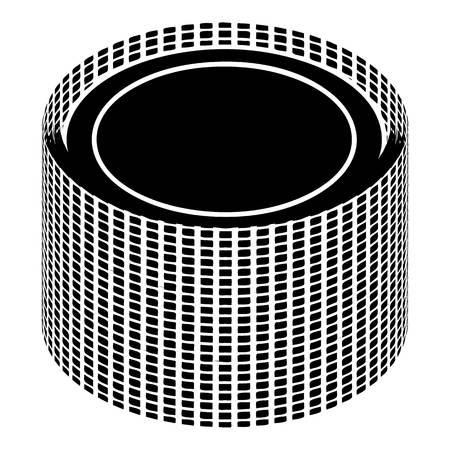 pu foam: Building roll net icon, simple style Vector illustration.