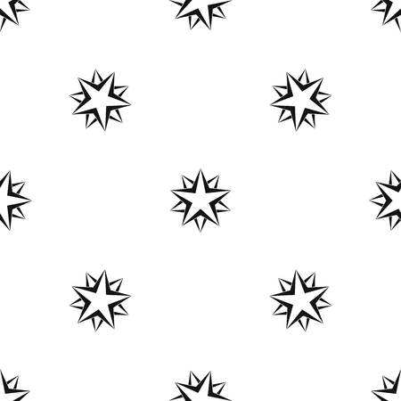 black metallic background: Star pattern seamless black Vector illustration.