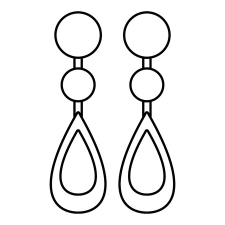 Pearl earrings icon, outline style Vector illustration.
