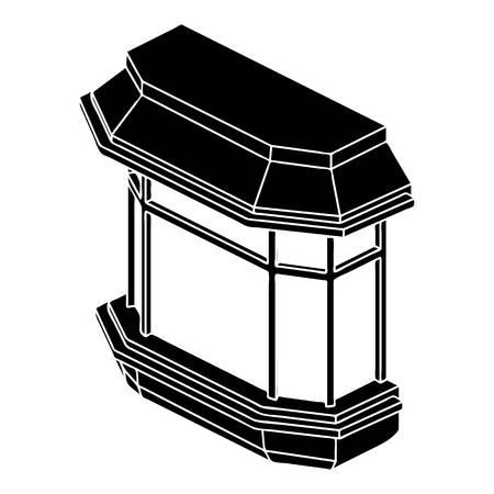 balustrade: Window balcony icon, simple style