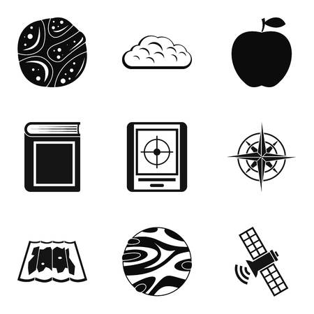 Stratosphere icons set. Simple set of 9 stratosphere vector icons for web isolated on white background