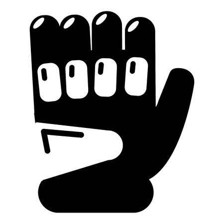 survive: Paintball sport glove icon. Simple illustration of paintball glove vector icon for web Illustration