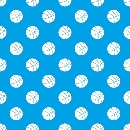 Basketball ball pattern seamless blue