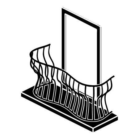 details: Stylish balcony icon. Simple illustration of stylish balcony vector icon for web design isolated on white background Illustration