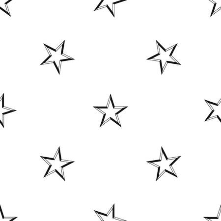 certificate template: Star pattern repeat seamless in black color for any design. Vector geometric illustration